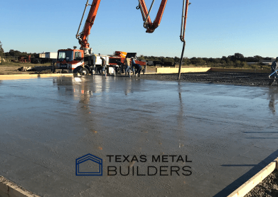 Pouring Concrete for Our Building Project