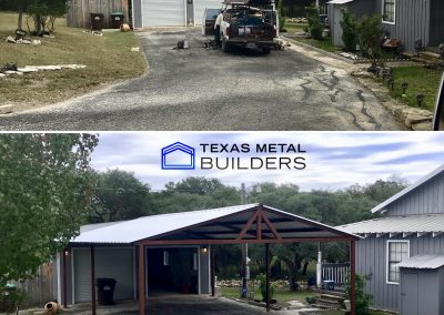 Before and After Carport